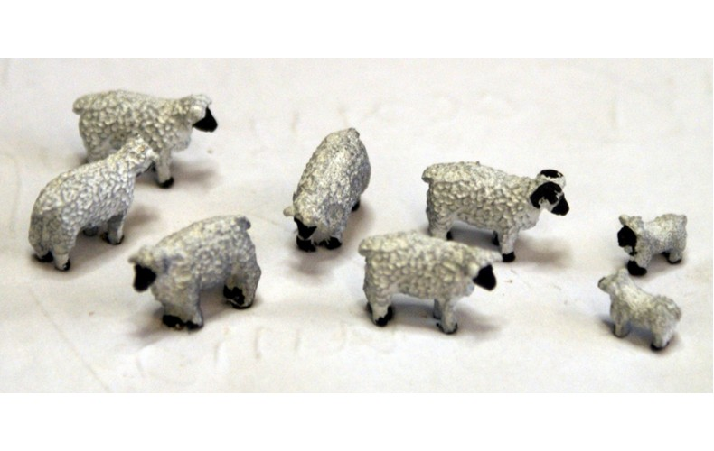 TT15 8 Sheep 3mm UNPAINTED TT Scale