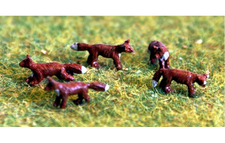 TT6 5 Foxes 3mm UNPAINTED TT Scale