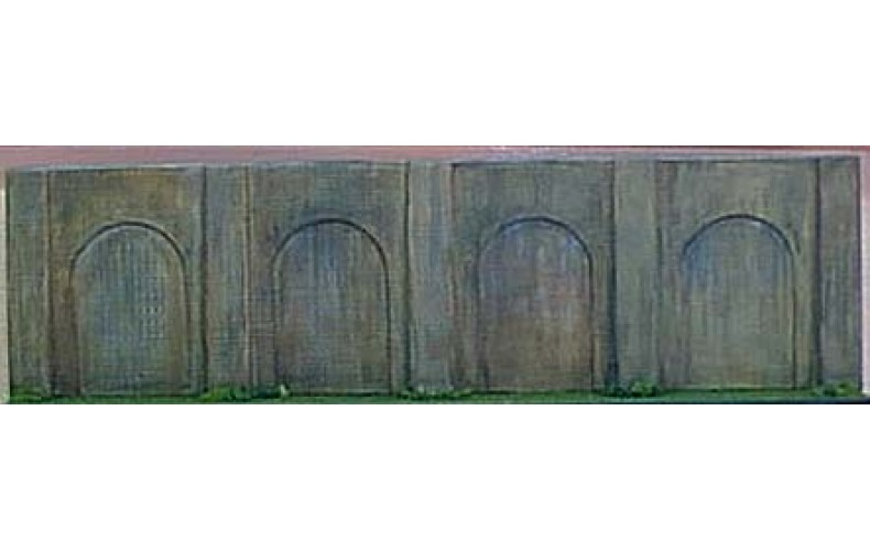 V13b Brick Embankment Retaining Wall (OO scale 1/76th)