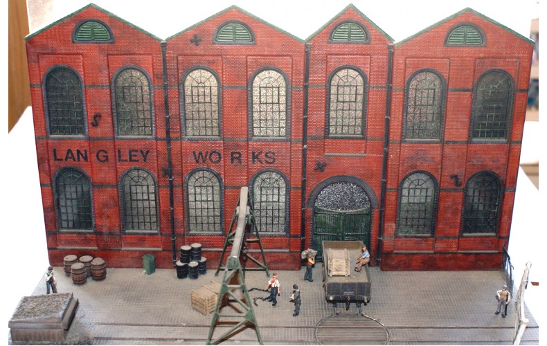 V17set Brick factory/warehouse Unpainted Kit OO Scale 1:76