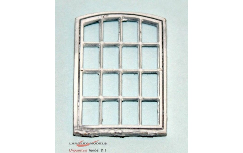 V20a 4 x Cast metal Industrial Window frame & bars 16x25mm Unpainted Kit OO Scale 1:76