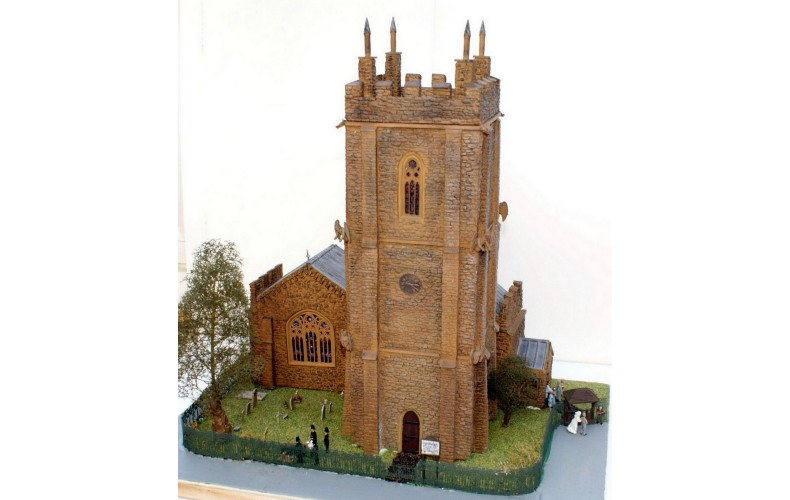 V20set Traditional Tower Church Unpainted Kit OO Scale 1:76