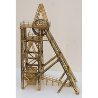 V21 Lattice Pithead & Lift Assembly rrp£210 Unpainted Kit OO Scale 1:76