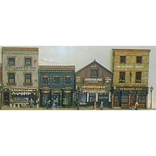 V2set Pub, Post office and shop Unpainted Kit OO Scale 1:76