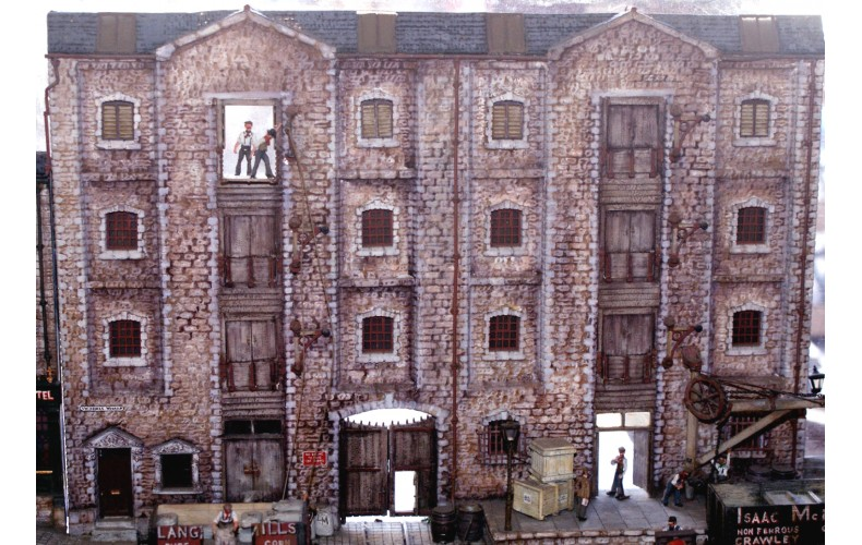 V3set Stone warehouse Unpainted Kit OO Scale 1:76