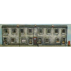 V5set Cottage fronts -terrace of 4 Unpainted Kit OO Scale 1:76