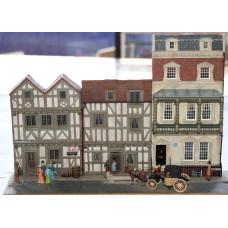 V9set 2 timbered & 1 Georgian houses -set Unpainted Kit OO Scale 1:76