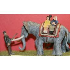 Z01 Elephant Ride & Keeper (OO scale 1/76th)