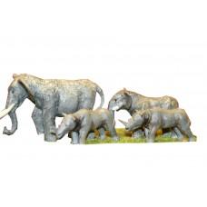 Z02 Elephants & Rhinos (OO scale 1/76th)