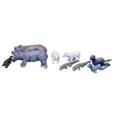 Z03 Hippos, Bears, Seals and Crocodiles (OO scale 1/76th)