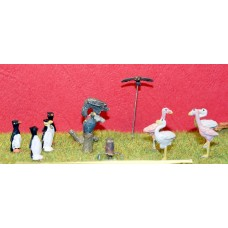 Z06 Flamingos, owls Vultures & Penguins (OO Scale 1/76th)