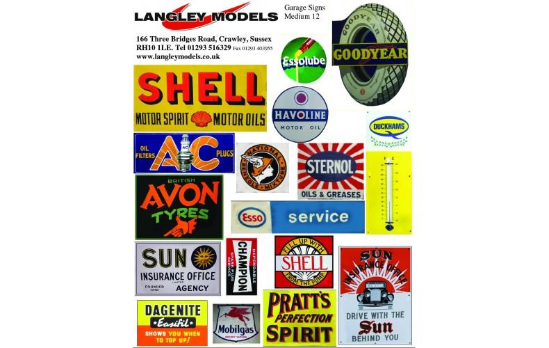 SMF13 Copies of old enamel signs -Garage signs large