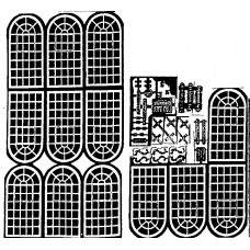 V17a etching for Brick Factory/Warehouse (V17) Unpainted Kit OO Scale 1:76