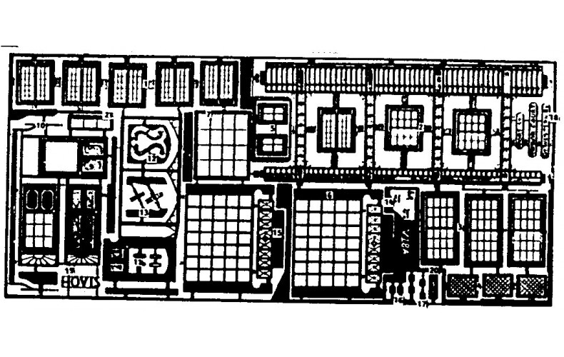 V18a etching for timb'd & Georgian Shops (V18) Unpainted Kit OO Scale 1:76