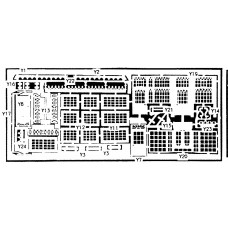 V2a etching for Post Office,Pub & Shop (V2) Unpainted Kit OO Scale 1:76
