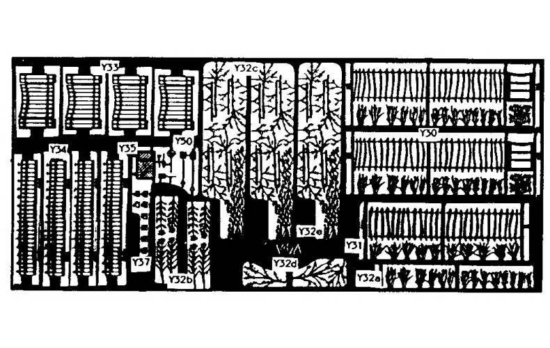 V4a Garden railings,fences & various flowers Unpainted Kit OO Scale 1:76