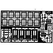 V5a etching for terraced Cottage fronts (V5) Unpainted Kit OO Scale 1:76
