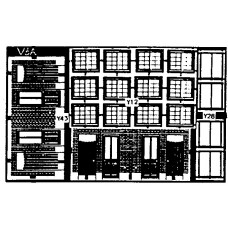 V6a etching for terraced Cottage backs (V6) Unpainted Kit OO Scale 1:76