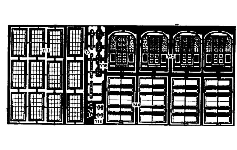 V7a etching for terraced Villa fronts (V7) Unpainted Kit OO Scale 1:76