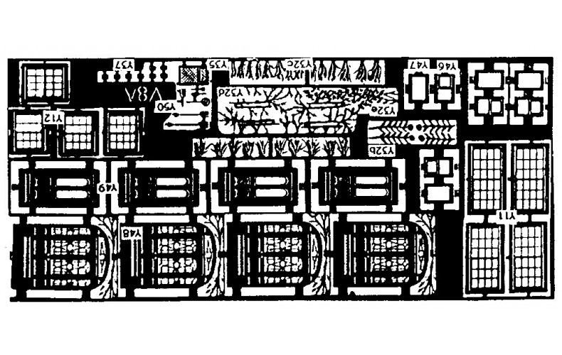 V8a etching for terraced Villa backs (V8) Unpainted Kit OO Scale 1:76