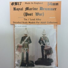 GB17 Royal Marine Drummer (Post war) GB17 Unpainted Kit 54mm Scale