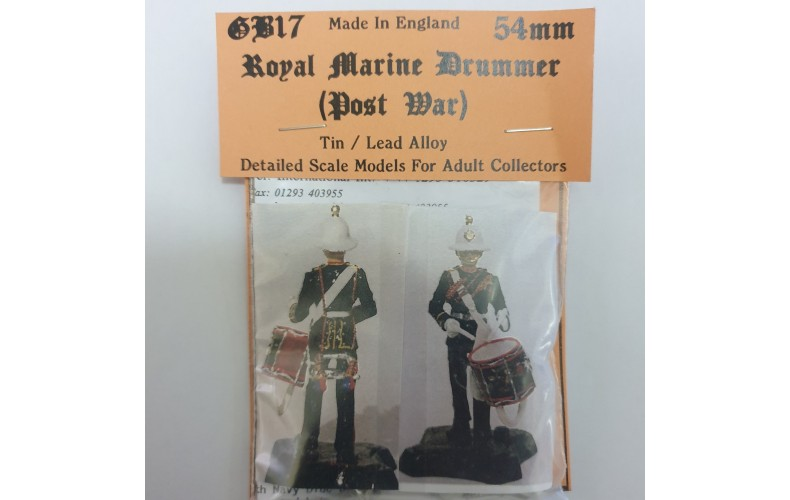 GB17p Royal Marine Drummer (Post war) GB17p Painted Model 54mm Scale