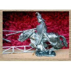 KS17 Jousting Knight (Hound Crested Helm) (54mm scale)