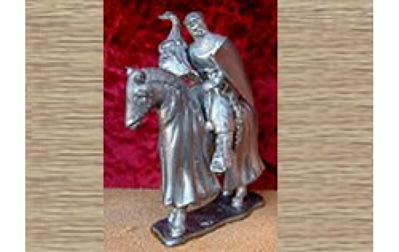 KS18 Mounted Knight with Armoured Horse (54mm scale)
