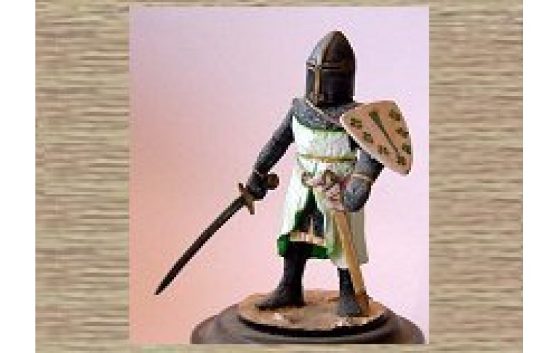 KS3 Foot Knight dressed for Combat (54mm scale)