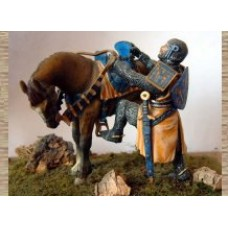 KS4 Knight Mounting Horse (54mm scale)