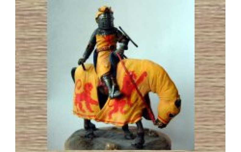 KS6 Knight on Caparisoned Horse (54mm scale)