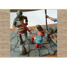 KS7 'To Arms' Scene (Knight & Squire) (54mm scale)