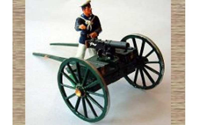 TRN5 RNLP firing figure, machine gun & carriage