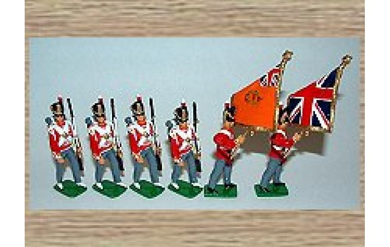 TW1cb 35th Royal Sussex Regiment - Colour Party