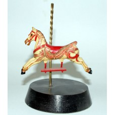 Car1 Carousel Horse Painted and mounted on a Wooden Plinth