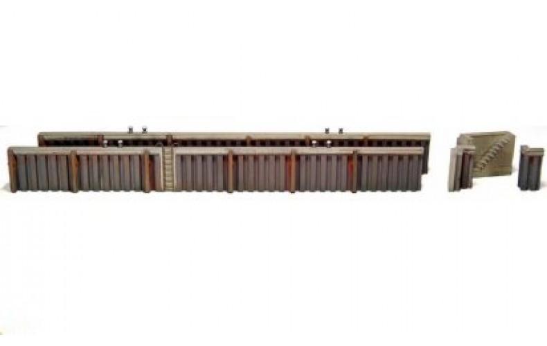 10144 Quayside Walling - Steel  (OO/HO Scale 1/87th)
