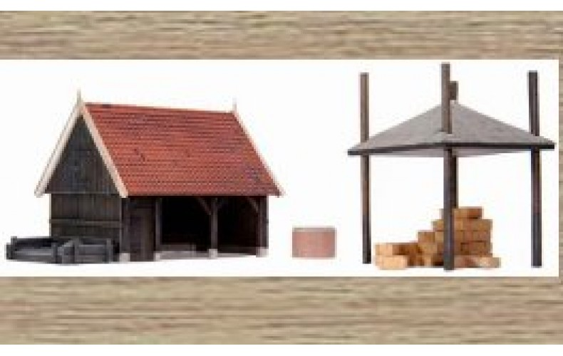 10188 Shed & hay stack cover (OO/HO Scale 1/87th)