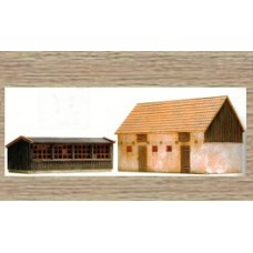 10198 Farm Buildings Pigsty & Chicken Coop (OO/HO Scale 1/87th)