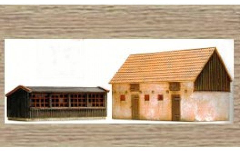14134 Chicken Coop & Pigsty  (N Scale 1/160th)