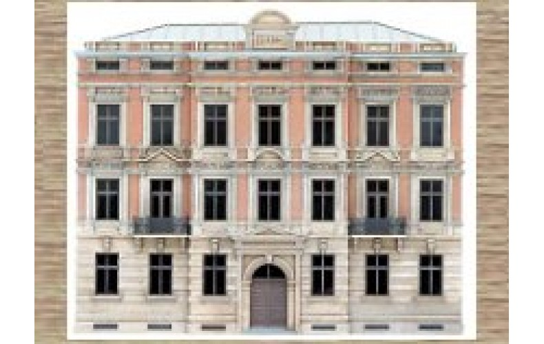 14140 4 storey facade building H  (N Scale 1/160th)