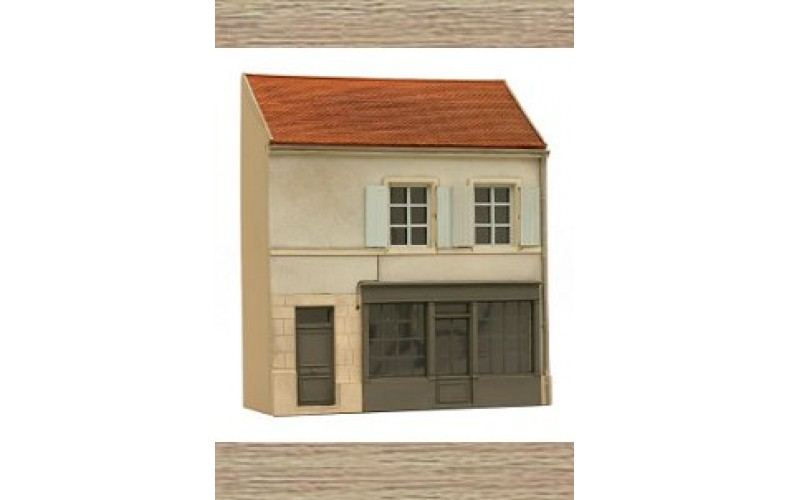 14142 German sytle shop facade L  (N Scale 1/160th)