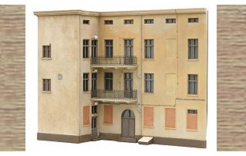 10234 3 Storey flats facade P (OO/HO Scale 1/87th)