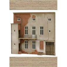 10235 3 Storey flats facade Q (OO/HO Scale 1/87th)