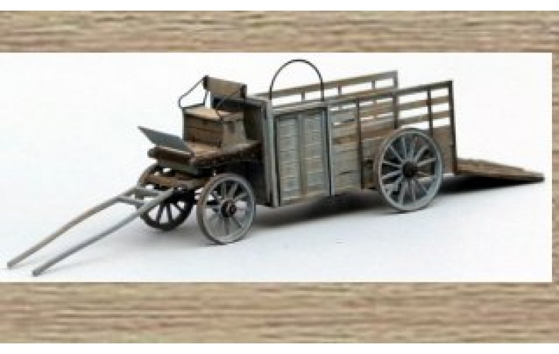 14151 Wooden Cattle Trailer  (N Scale 1/160th)