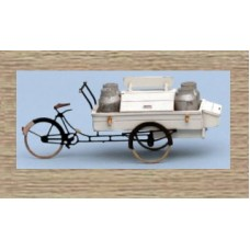38726 Painted Delivery Bicycle (with Milk churns) (OO/HO Scale 1/87th)