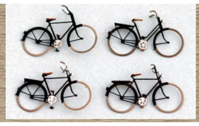 14155 4 x Traditional Bicycles  (N Scale 1/160th)