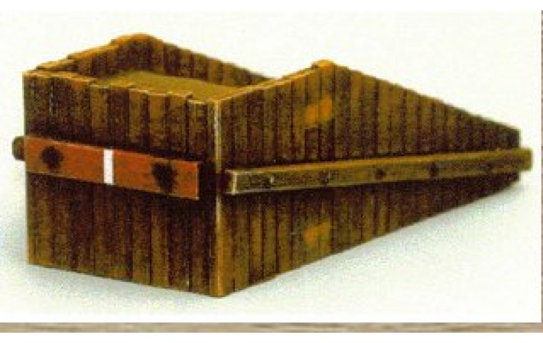 38734 Painted Wooden Buffer Stop (OO/HO Scale 1/87th)