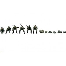 38747 Painted Motorcycle figures and accessories in Grey (OO/HO Scale 1/87th)