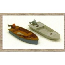 50128 2 small fishing boats (OO/HO Scale 1/87th)