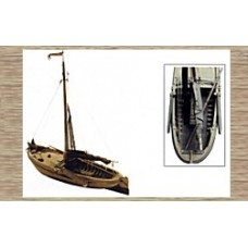 50105 Traditional Dutch Sailing Boat (OO/HO Scale 1/87th)